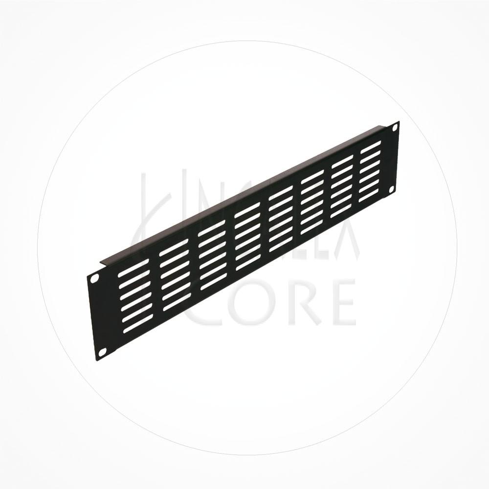 "Panel Frontal Ranurado Metalico Rack 19"""