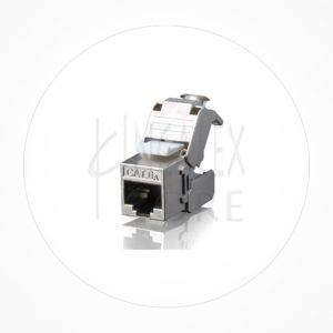 Conector Ethernet Modulo Hembra Keystone FTP Cat6A Autocrimp 180º