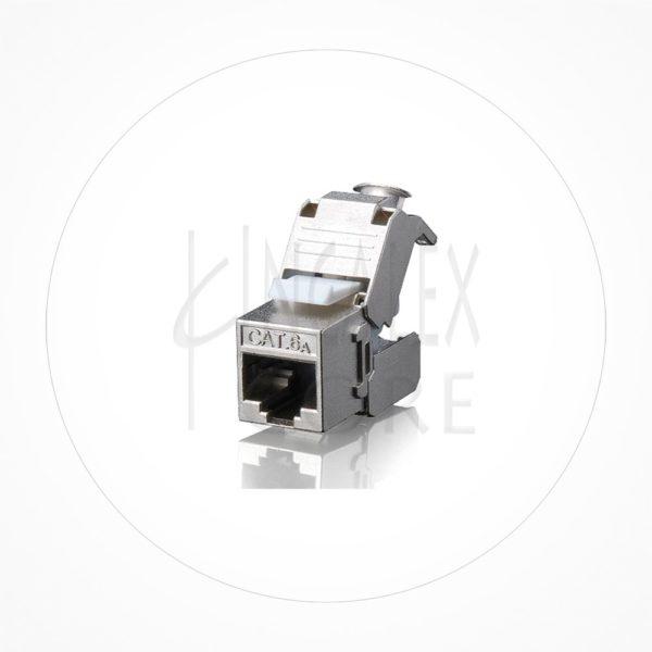 Conector Ethernet Modulo Hembra Keystone FTP Cat6 Autocrimp 180º