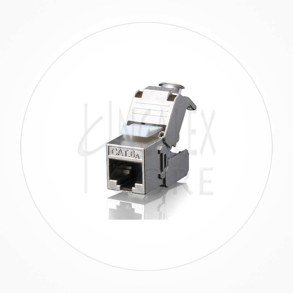 Conector Ethernet Modulo Hembra Keystone FTP Cat7 Autocrimp 180º