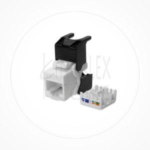 Conector Ethernet Modulo Hembra Keystone UTP Cat6A Autocrimp 90º