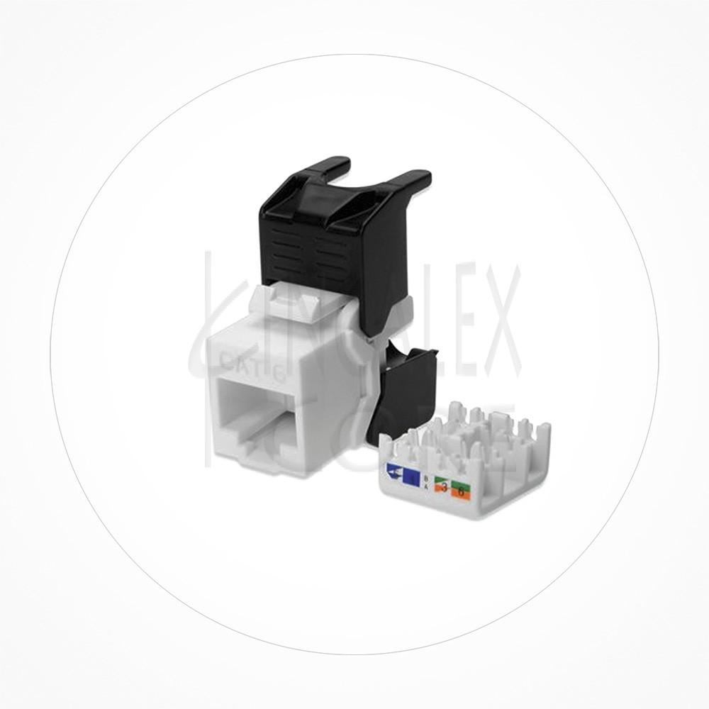 Conector Ethernet Modulo Hembra Keystone UTP Cat6 Autocrimp 180º