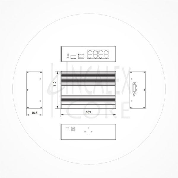 Switch PoE+ 8puertos 10/100 +2 Uplink 1Gb 150W SFP CCTV 250m ICX7208EPOEA1