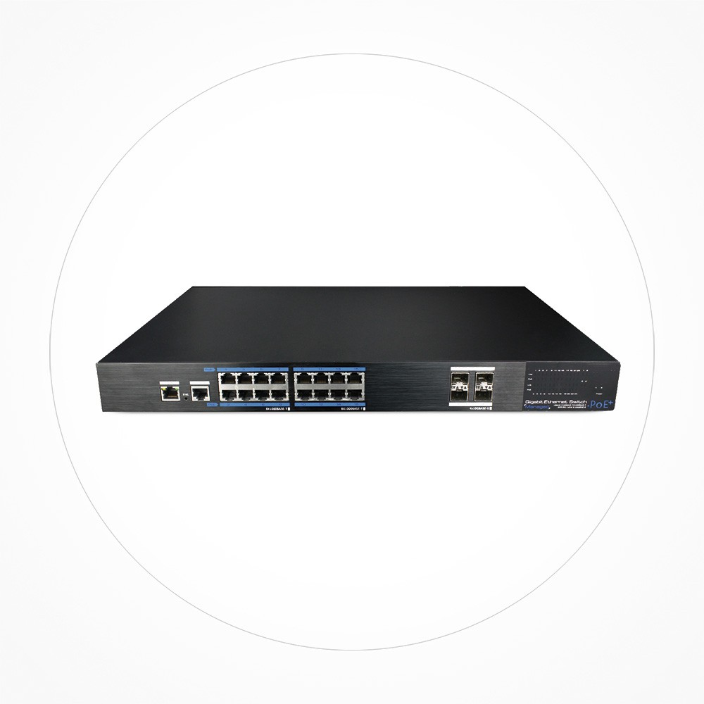 Switch PoE+ 16 puertos GB + 4 Uplink SFP GB Manejable Layer 2 ICX7516GEPOE4GF