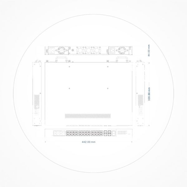 Switch 24 puertos 1Gb SFP/8 Combo +2Uplink 10Gb/SFP Manejable Layer 3 ICX7624GEL3