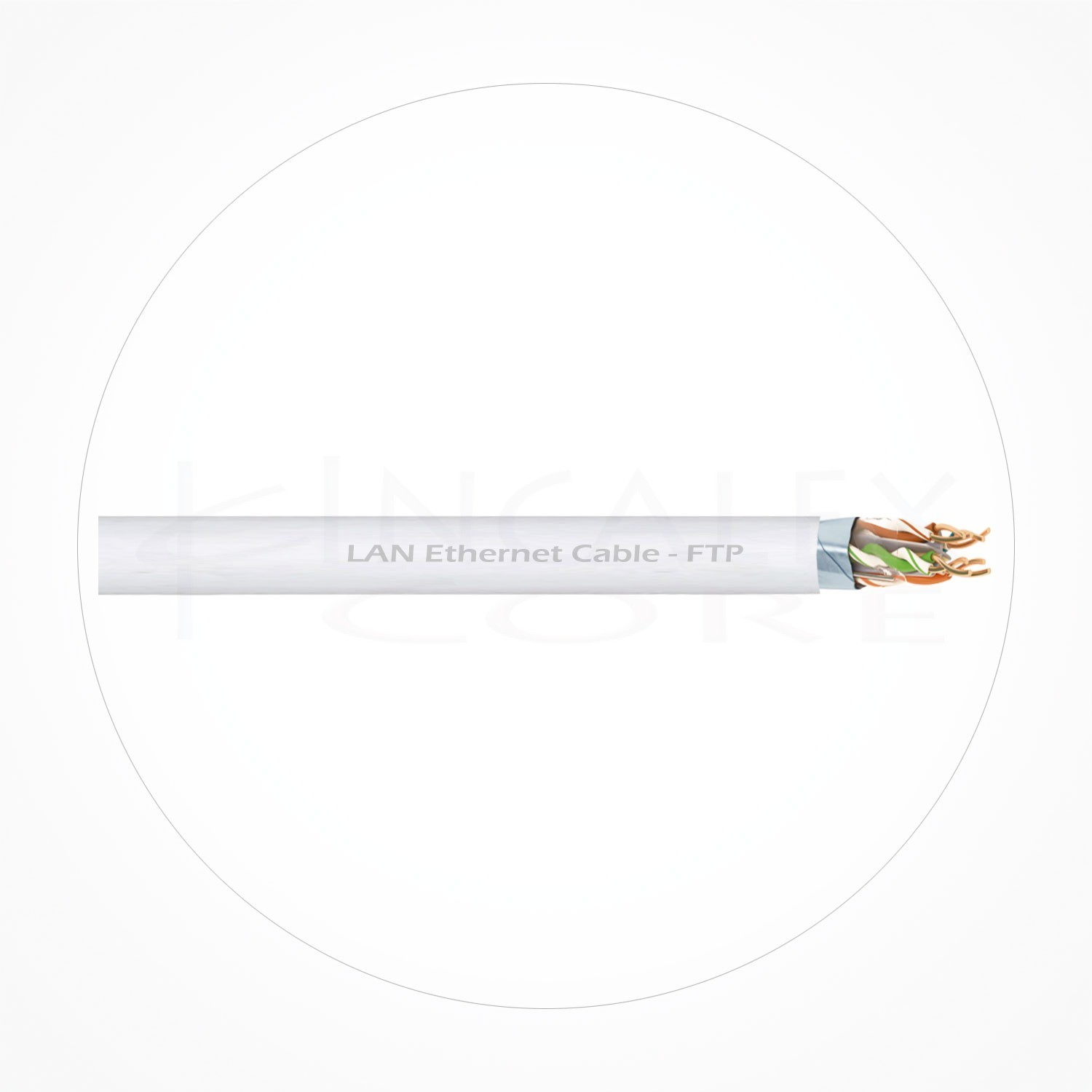 Cable FTP Ethernet Cubierta Blanca LSZH Cat5e