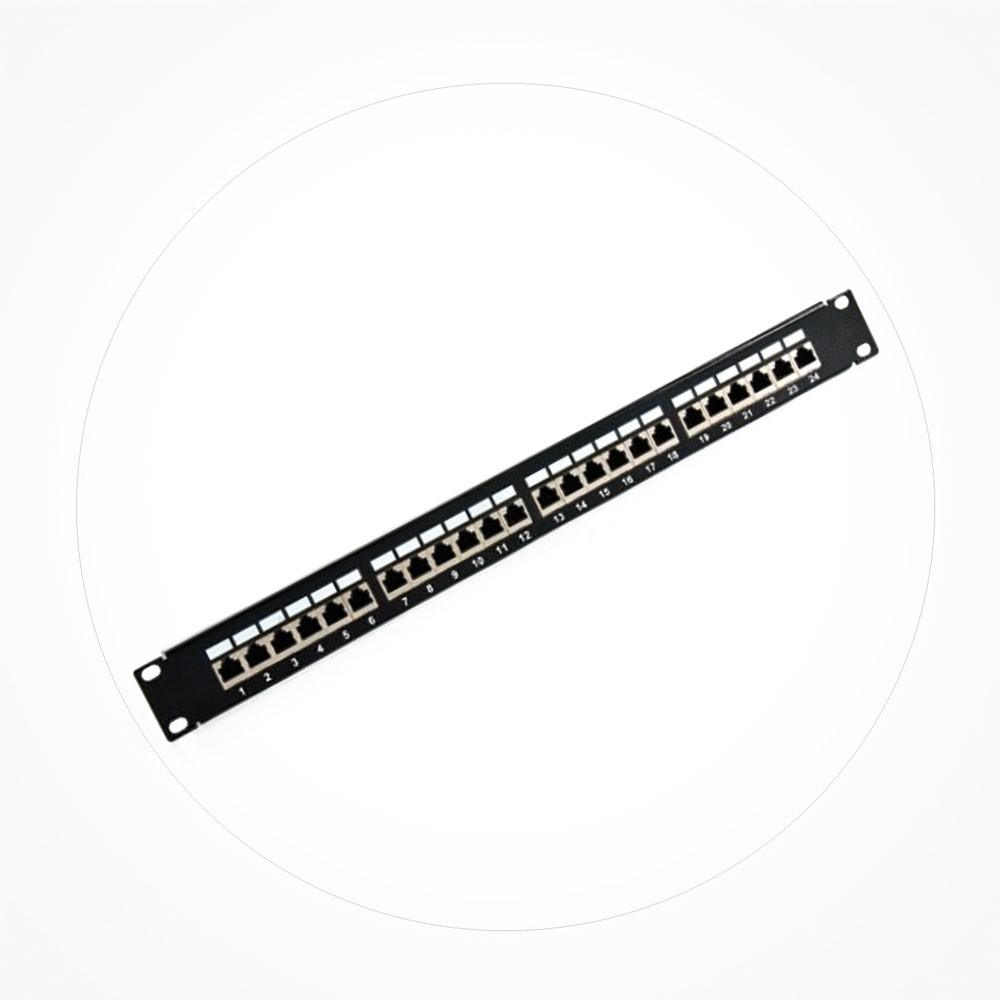 "Patchpanel 19"" FTP Cat6A 24 Puertos 1U"