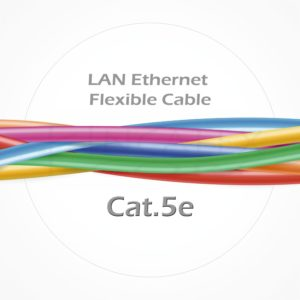 Cable UTP Ethernet Flexible Patch Cubierta LSZH Cat5e Colores
