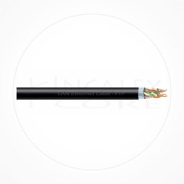 Cable FTP Ethernet Cubierta Negra PE Cat5e