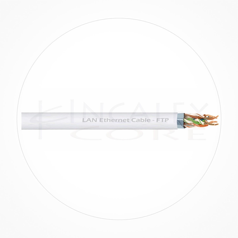 Cable FTP Ethernet Cubierta Blanca PVC Cat6