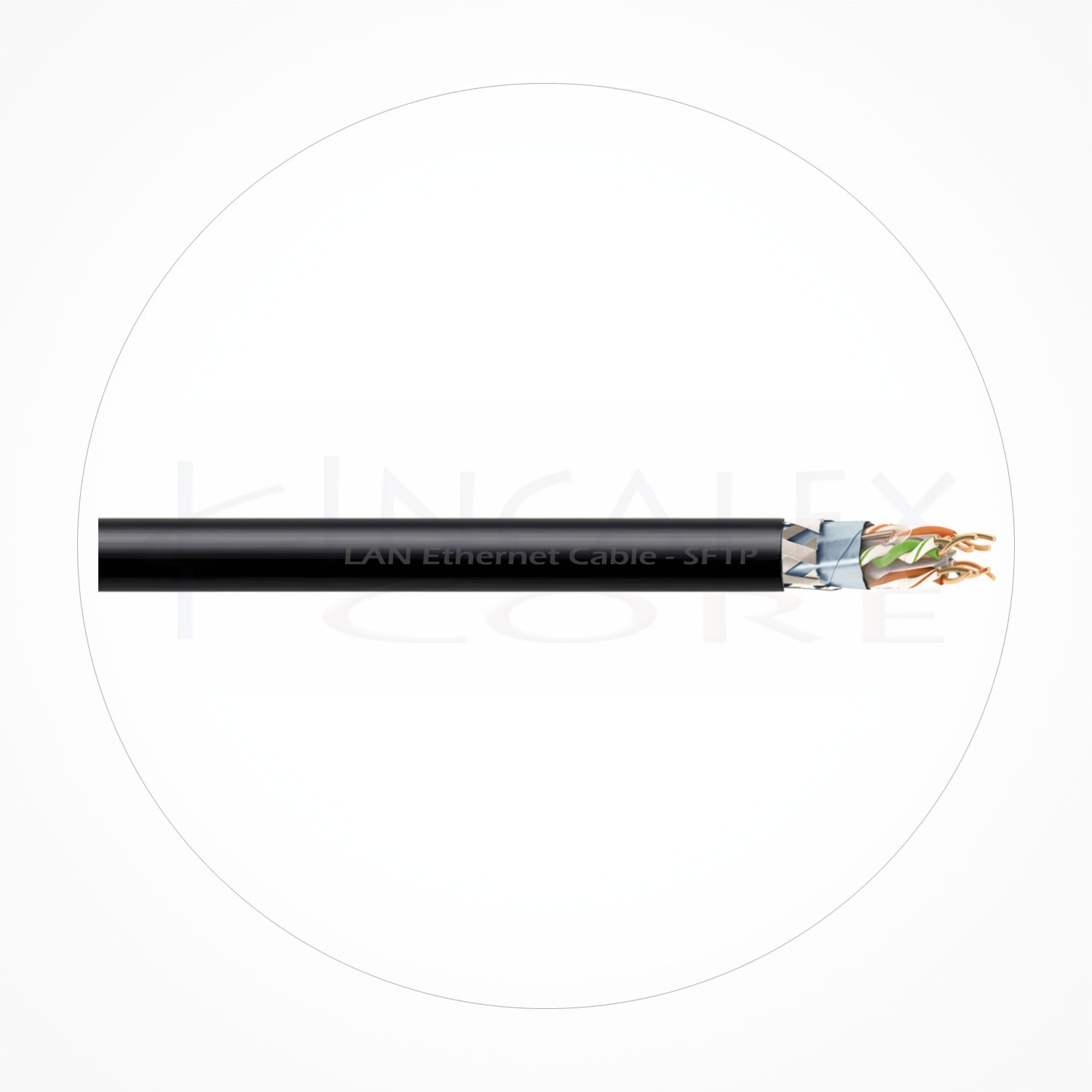 Cable SFTP Ethernet Cubierta Negra LSZH Cat6A