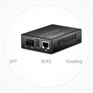 Conversor Medios Ethernet RJ45 con Slot SFP 1Gb