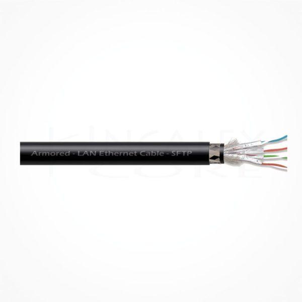 Cable SFTP Ethernet Armado Cubierta Negra LSZH Cat7A