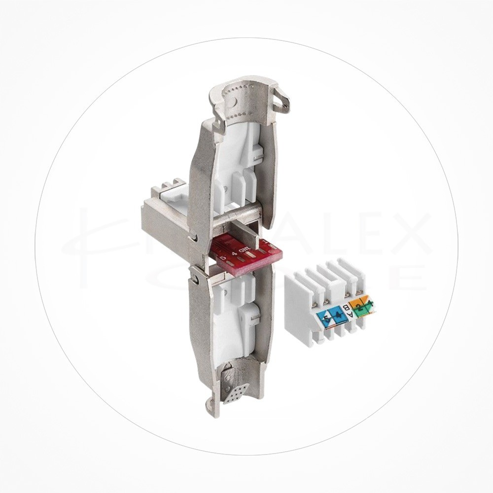 Conector Ethernet FTP Macho Rj49 Cat6/7 Industrial