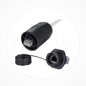 Conector Ethernet Estanco Macho IP67 UTP Cat6