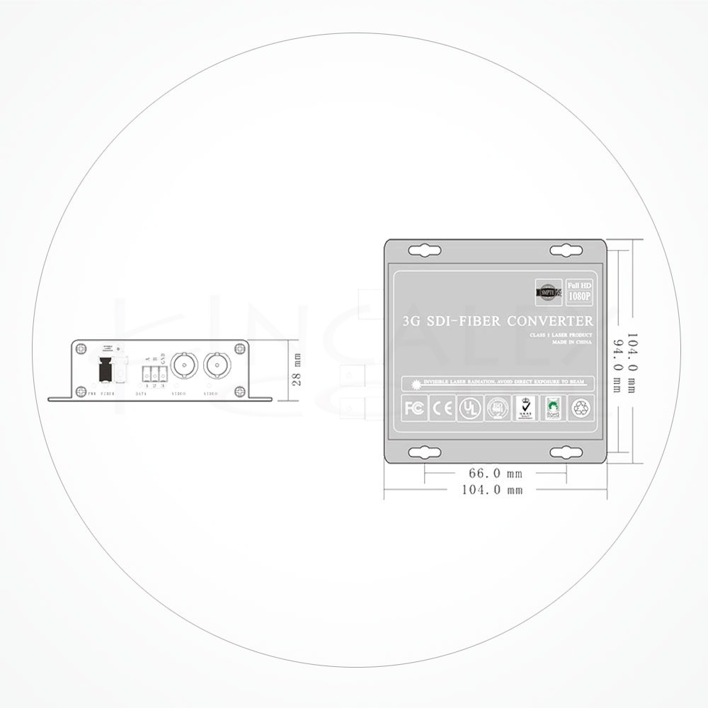 Conversor LC SDI-3G HD Módulos SFP IXSDI-B
